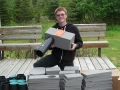 Erick-Paulsud-with-his-finished-Least-Auklet-nest-boxes