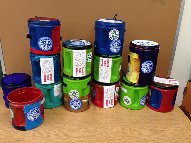 fishing line recycling containers