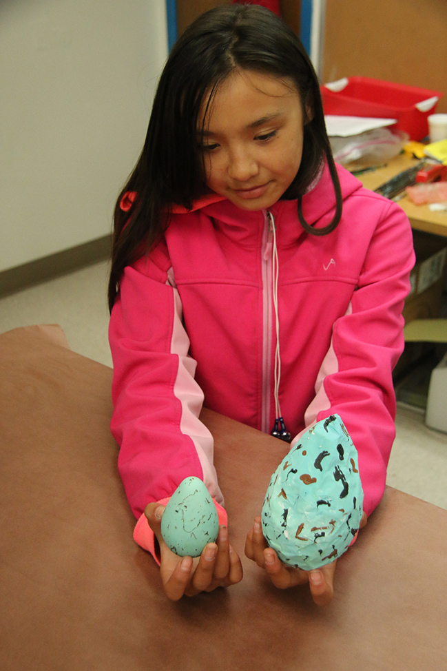 paper mache and real egg